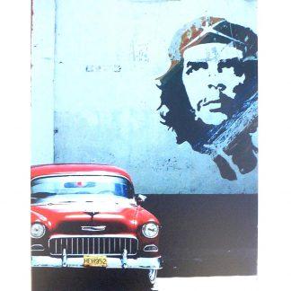 Che Guevara vintage car tin metal sign 0931a Metal Sign Che Guevara