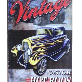 Vintage Custom Hot Rods car tin metal sign 0935a Metal Sign car