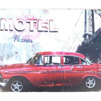 Motel car tin metal sign 0936a Metal Sign car