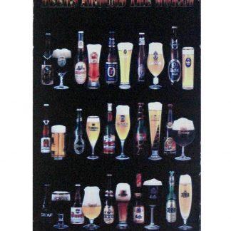 Beers Around World Liquor Bar Distiller metal sign 0943a Beer Wine Liquor around