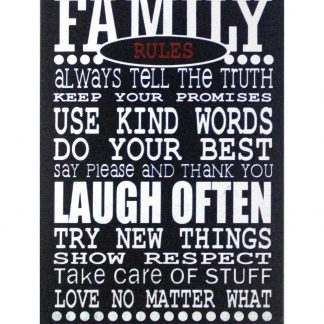 Family Rules inspirational saying metal sign 0958a Metal Sign cheap plaques