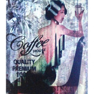 Coffee House Kitchen Cottage Farm tin metal sign 0964a Metal Sign back wall decoration