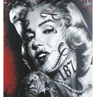 Marilyn Monroe Tattoos sexy women metal sign 0968a Metal Sign brewery bar vintage tin signs