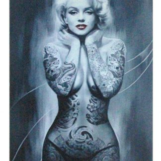 Marilyn Monroe Tattoos sexy tin metal sign 0969a Metal Sign giant wall posters