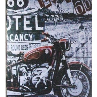 Love Route 66 motorcyle biker tin metal sign 0979a Gas Oil Automotive big posters for wall