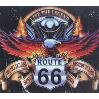 Worldclass Motorcycles Route 66 eagle metal sign 1004a Gas Oil Automotive decoration