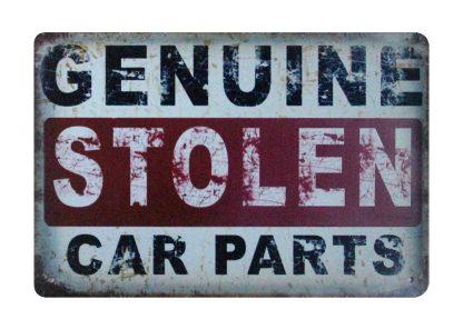 Genuine Stolen Car Parts tin metal sign 1005a Metal Sign bedroom looks