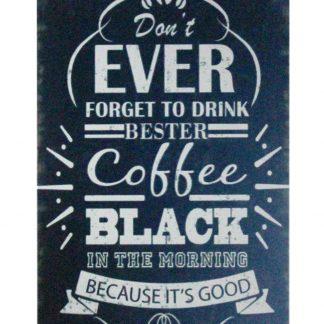 Drink Bester Coffee tin metal sign 1011a Beer Wine Liquor artwork prints for sale