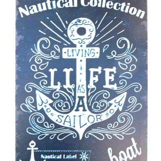 Nautical Collection Boat anchor tin metal sign 1021a Metal Sign anchor