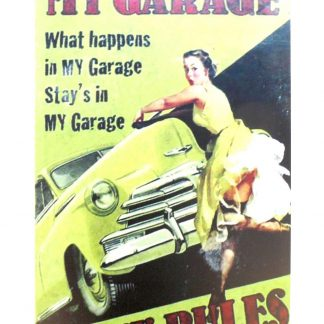 My Garage my rules pin-up tin metal sign 1022a Metal Sign cafe pub home kitchen wall art