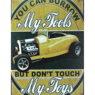 My Tools My Toys garage car tin metal sign 1028a Metal Sign art work wall