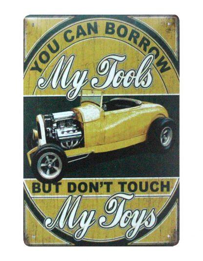My Tools My Toys garage car tin metal sign 1028a Metal Sign art work wall