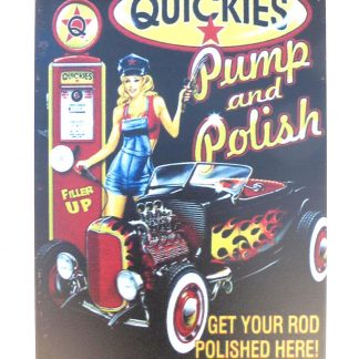 pin-up girl Pump Polish tin metal sign 1030a Metal Sign cottage farm plaque engraving