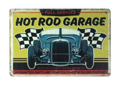 car Hot Rod Garage Auto Shop tin metal sign 1032a Metal Sign auto shop