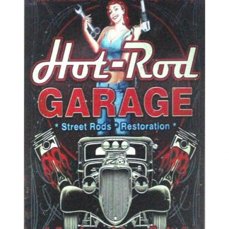 Hot Rod Garage pin-up Auto Shop tin metal sign 1036a Metal Sign auto shop