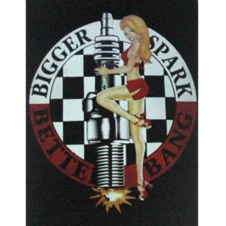 Bigger Spark Better Bang pin up girl Auto Shop Garage metal sign 1042a Metal Sign auto shop