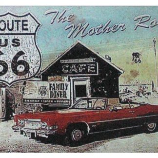 Route US 66 The Mother Road tin metal sign 1048a Gas Oil Automotive bar club kitchen plaques