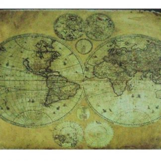 vintage world map tin metal sign 1051a Metal Sign full color plaques