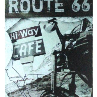 Route 66 Hi-Way Cafe motorcycle metal sign 1061a Gas Oil Automotive affordable home accessories