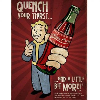 fallout nuka cola metal tin sign b03-Fallout-33 Food Beverage Cola Coffee Tea Cola