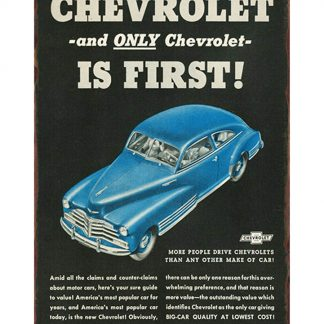 vintage Chevrolet old car ads metal tin sign b10-Chevrolet-32 Gas Oil Automotive ads
