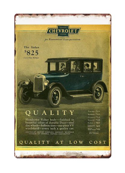 vintage Chevrolet old car ads metal tin sign b10-Chevrolet-34 Gas Oil Automotive ads