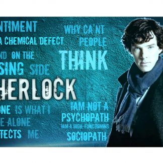 Sherlock British detective drama metal tin sign b18-Sherlock-8 Metal Sign British