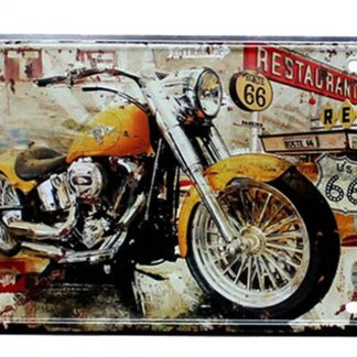 motorcycle route 66 metal tin sign b51-8 Gas Oil Automotive living room design