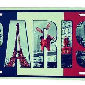 Paris metal tin sign b56-GD15-B-7 Metal Sign decoration