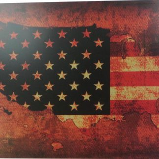American flag map tin sign office bar  metalsign01-6 Metal Sign American