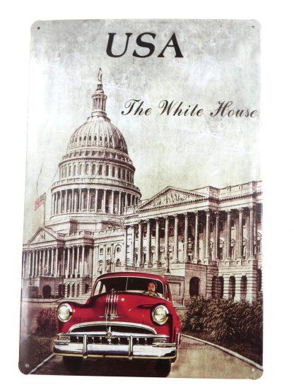 USA White House tin sign house decor interiors metalsign02-3 Metal Sign & decor