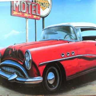 antique car motel tin sign ation pieces metalsign02-4 Metal Sign antique
