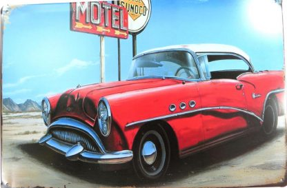 antique car motel tin sign ation pieces metalsign02-4 Metal Sign antique