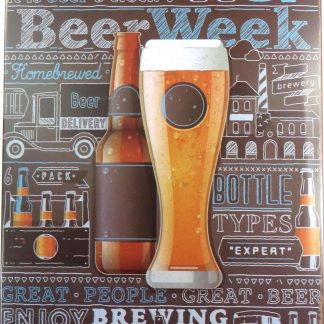 Beer Week tin sign cool art posters metalsign02-5 Beer Wine Liquor art