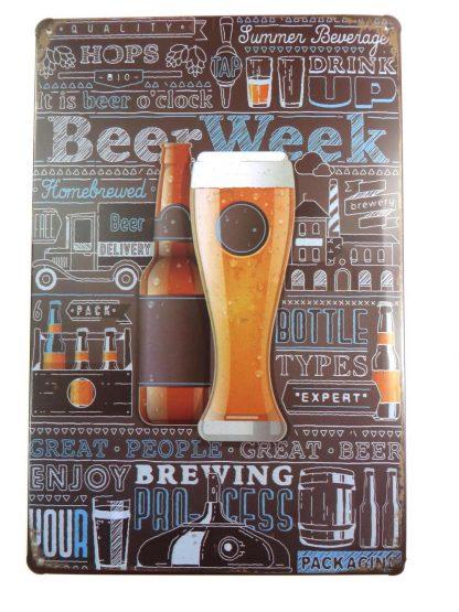 Beer Week tin sign cool art posters metalsign02-5 Beer Wine Liquor art