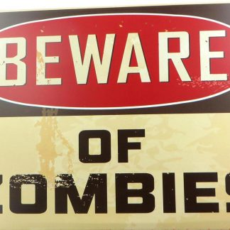 Beware of Zombies tin sign home bar  metalsign03-5 Metal Sign bar