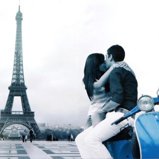 Eiffel Tower lover kissing tin sign beautiful  metalsign06-6 Metal Sign Beautiful