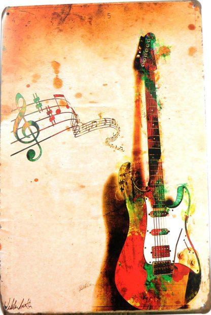music guita tin sign cheap wall posters metalsign08-2 Metal Sign bathroom wall art