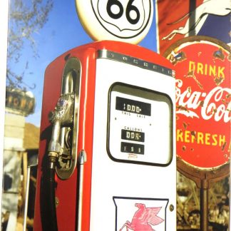 gas station ROUNT 66 tin sign bar decor store metalsign09-2 Gas Oil Automotive & decor