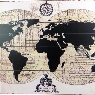 world map tin sign redecorating bedroom ideas metalsign10-4 Metal Sign accent decor