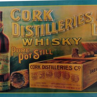 Cork Distillery's Whiskey Co Ltd Old Irish tin sign   metalsign11-3 Metal Sign Co