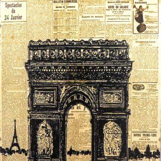 Paris Arc de triomphe tin sign art and decor metalsign11-5 Metal Sign Arc