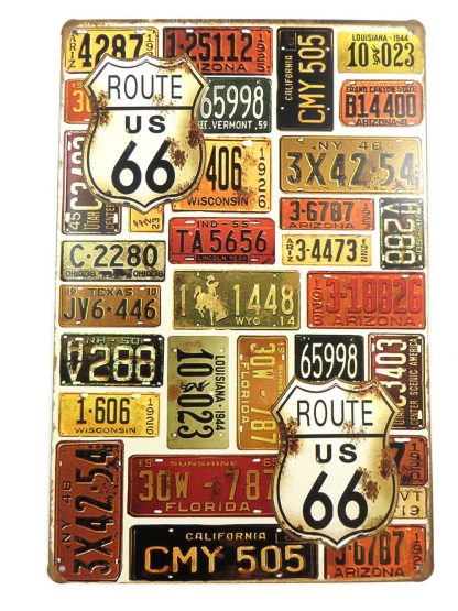ROUTE US 66 license plates tin sign beautiful bedroom decor metalsign12-3 Gas Oil Automotive Beautiful