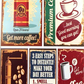 coffee tin sign dorm room art decor metalsign12-4 Metal Sign & decor