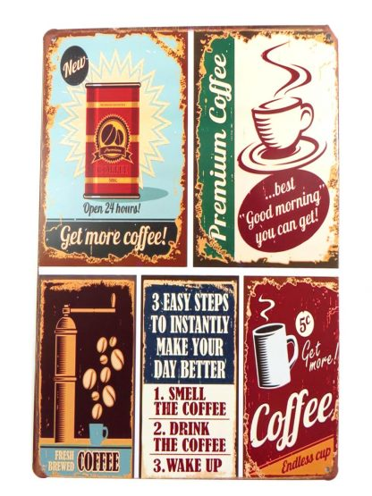 coffee tin sign dorm room art decor metalsign12-4 Metal Sign & decor