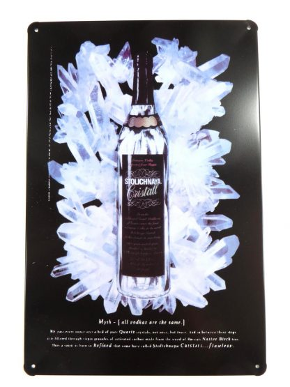 Stolichnaya Vodka tin sign designer interior metalsign13-2 Beer Wine Liquor beach home decor