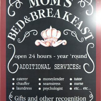 Mom's Bed & Breakfast tin sign bedroom dorm room metalsign13-3 Metal Sign &