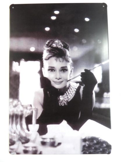 Audrey Hepburn tin sign new bedroom design metalsign13-5 Metal Sign Audrey Hepburn