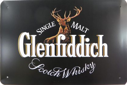 Glenfiddich Scotch Whiskey tin sign art and  metalsign14-3 Metal Sign and