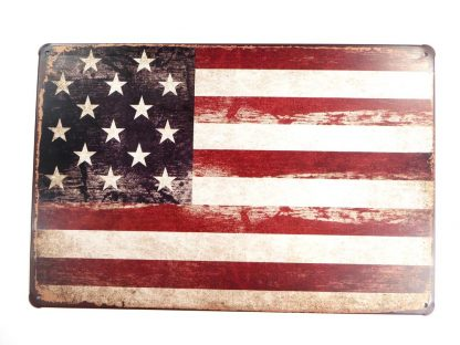 USA American Flag patriotic tin sign shop  metalsign14-5 Metal Sign American